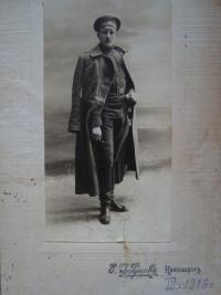 Vladimír Ficek jako voják carské armády v první světové válce, rok 1916