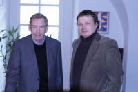 Vaclav Havel and Mikulas Kroupa, director POSt BELLUM