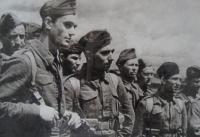 Václav Přibyl - second from left, Buzuluk