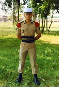 v uniformě legionáře