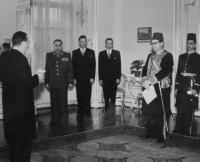 Trubáček při audienci egyptského velvyslance u prezidenta Gottwalda roku 1949