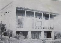 Domy kde bydleli instruktoři  při výcviku letců v Telavi v Gruzii