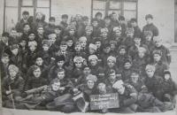 Chlapci ze severní Moravy, odvlečení s Todtovou organizací na Ukrajinu (uprostřed velitel Ziak z  Mohelnice)