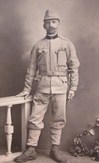 Otec Jan Fochler v 1. sv. válce