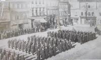 Při přísaze bratra Jana do čs. armády v roce 1937 ve Frývaldově (Jeseník)