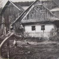 Rodný dům Jiřího Fochlera v Olšanech (dnes již nestojí)