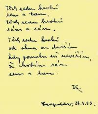 Leopoldovský památníček - autorem spoluvězeň Jaroslav Caha
