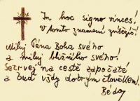 Leopoldovský památníček - autorem spoluvězeň Bedřich Hostička