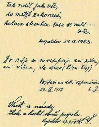 Leopoldovský památníček - autorem spoluvězeň neznámý kněží