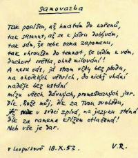 Leopoldovský památníček - autorem spoluvězeň Václav Renč
