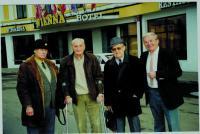 Spoluvězni, zleva: Pravomil Reichl, generál Rudolf Pernický, Vojtěch Klečka, Ladislav Kořán
