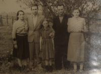 During a visit to Subcarpathian Ruthenia in the 1950s, Michal Demjan is second from the left