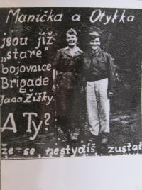 A leaflet that the partisans were distributing to the population to join them, left Marie Králová (missing text... to stay home, even if girls fight