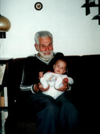 Michael Rozman with grand-grandchildren