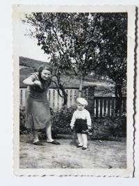 Vaclav Zelenka with grandmother