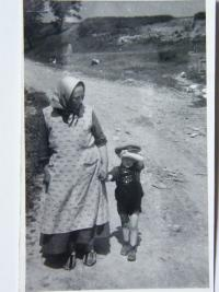 Vaclav with grandmother