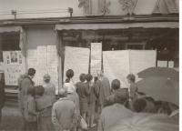1968, momentka z pražských ulic ve dnech návratu vedení z Moskvy