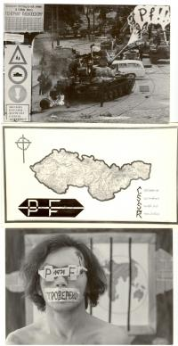 Pamětníkem vytvořené novoročenky 1969 - 1971