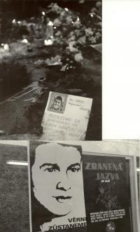 1969, leden, tryzna za Jana Palacha, momentka z noční Prahy