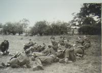 In England, training in camp, in the middle of September 1940