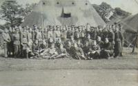 Singing army choir before trip to Chester's academy, end of July 1940