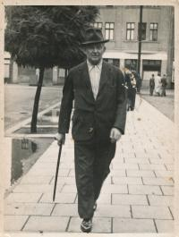 Otec Ingeborg Cäsarové, František Przybyla, 40. léta v Bohumíně