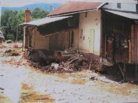 Dům Eriky Bednářové při povodních v roce 1997