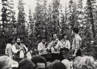 Skupina Jožky Fiča, 1986 (L. Goral první zprava)