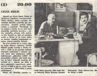 Ve filmu Causa Králík, s Milošem Kopeckým, 1979 (L. Goral vpravo)