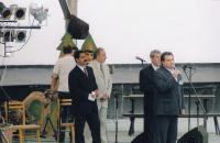 Na festivalu v Karviné, začátek 90. let (L. Goral druhý zprava)