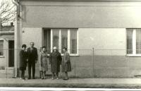 Before the house in Uničov, 1968