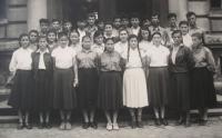 Chrastava 1954 - Pan Michopoulos je v horní řadě vlevo