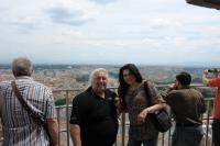 Statis Prusalis na vrcholu Svatopetrské katedrály v Římě