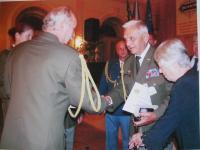 Předávání vyznamenání Otakaru Rieglovi v září roku 2010 v Moravské Třebové