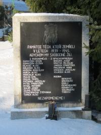 Pamětní deska v Rychvaldě padlím v druhé světové válce