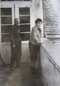 Hubert a Vlasta Lánští v Baníně