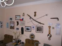 Interiér na zdi v domě Oldřicha Picha
