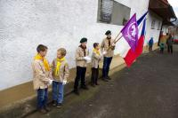 Pietní akce u příležitosti 70. výročí stanného soudu na Morávce (14. 12. 2014): skautská čestná stráž