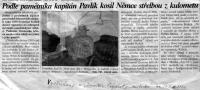 vystřižen z novin o Svatoslavu Kalichovi z FM, 14.3.2000
