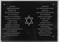 Pamětní deska na objektu v Bukolowo - odhalena byla v roce 2010