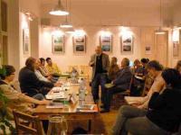 Ivan Makásek diskutuje na projektu Význam slibu