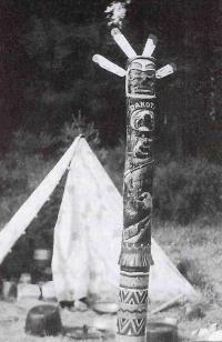 První skládací totem Dakoty, rok 1960, Tábor Zkoušky