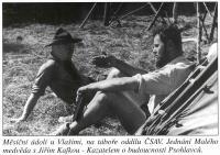 na táboře oddílu ČSAV