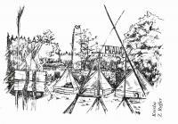 Tábor, nakreslil Zdeněk Ruffer