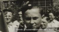skauti z Police na oslavách z konce války - detail na Zdeňka Streubela