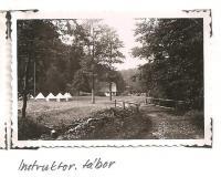 Oblastní lesní škola Jiráskovy oblasti - srpen 1946 - Instruktorský tábor