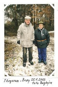 Já s Rogerem - Brdy 25. 1. 2003