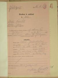 ukázka z vyšetřovacích spisů StB týkající se L. Jednorožce, rozkaz k zatčení