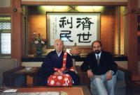 Tomáš Halík s patriarchou buddhistických klášterů v Japonsku 1998