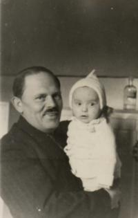 With grandfather Tůma on January 10, 1943